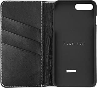Platinum Series Leather Wallet Case for Apple iPhone 7 Plus, Model: PT-MA7PLFW, Black