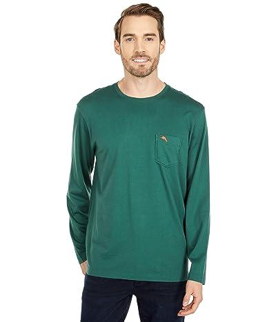 Tommy Bahama New Bali Skyline Long Sleeve T-Shirt (Emerald) Men