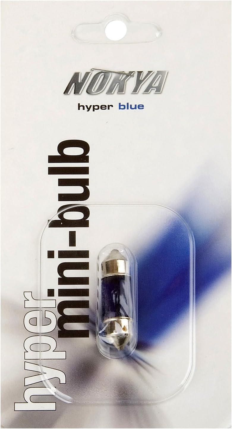 Nokya 10X31mm Festoon Columbus Mall Halogen Special Campaign Hyper 10W Bulb Blue