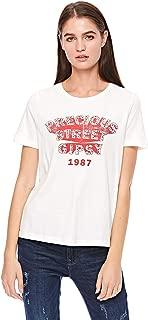 Vero Moda women's t-shirt in Snow White, Large