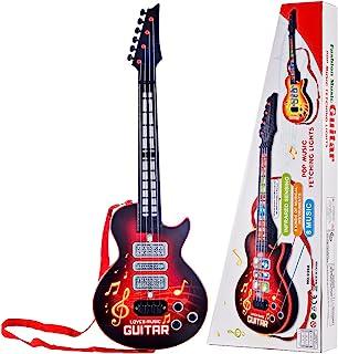 Leic Jouet de guitare électrique 4 cordes Instruments de Simsulation jouant de la guitare électrique jouet éducatif musica...