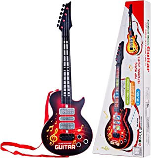 Petforu Electric Guitar 4-String Musical Instruments Kids Educational Toy - Red