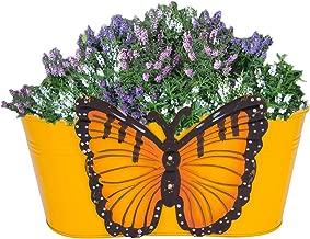 Gadgets Appliances Wonderful Colour Butterfly, Railing Planter, Flower Pot, Wall Planter, Metal Planter, Balcony, Garden Planter Basket (Yellow)