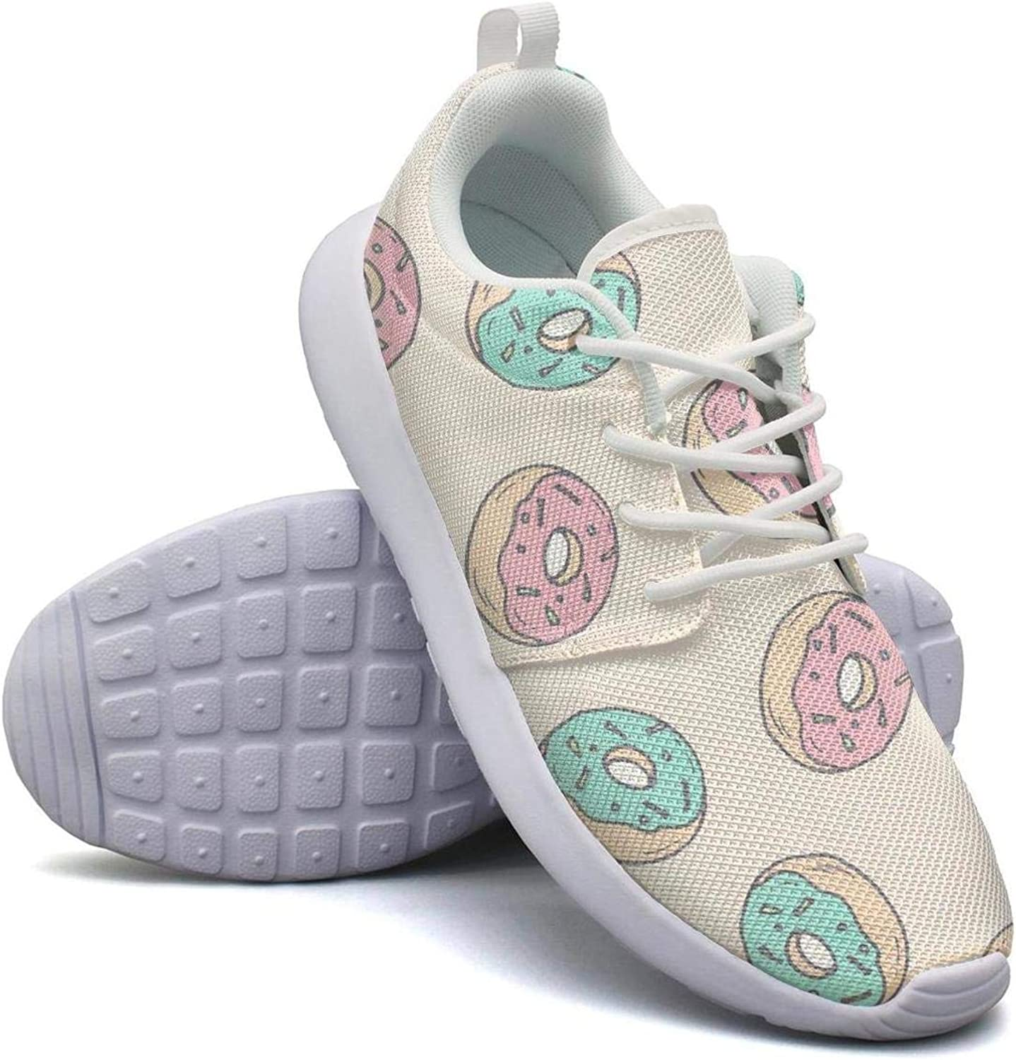 FEWW11 Women Funny Lightweight shoes Sneakers Monster Creep Donut Doodle Breathable Running Lace-Up