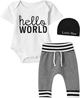 Newborn Camouflage Outfit Set Baby Boy New to The Crew Bodysuit