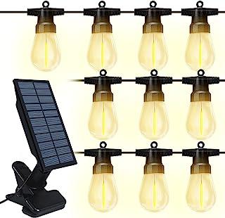 Solar String Lights Outdoor,10M JESLED Warm White G45 Bulb Solar Hanging Decorative Lights,2000mAh Flashing LED Lighting f...