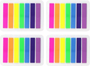 8 Sets 0.3x1.8 Inch Flags Tabs Neon Page Markers 7 Bright Color Sticky Index Tabs Neon Note Tabs Page Flags 1120 Pcs