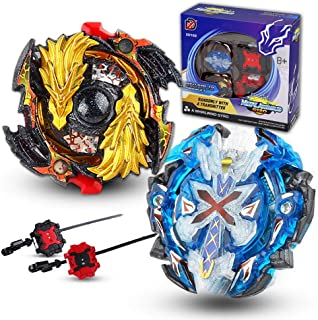 Innoo Tech Bey Battling Top Burst Evolution Combination 4D Series, 2pcs Speed Gyro Metal, 2 throwers Set with Launcher Blade Set, Battle Set Classic Toys for Adult Children(Upgraded Bey 2 Set)