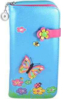 INSTABUYZ Women's PU Wallet (Large, Blue)