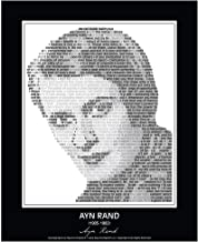 """Inspirational Ayn Rand Quotes Poster. Ayn Rand Print made from Ayn Rand Quotes! Atlas Shrugged, The Fountainhead. 24""""x 30"""" (unframed)"""