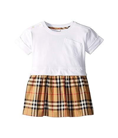 Burberry Kids Ruby Dress (Infant/Toddler) (White) Girl