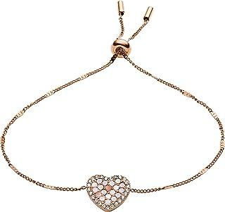 Fossil Women's Stainless Steel Rose Gold-Tone Chain Bracelet