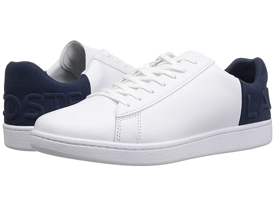 2cdeb2a94fdc Lacoste Carnaby Evo 318 6 (White Navy) Men s Shoes