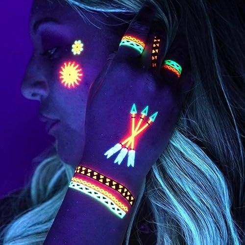 308d0dbdd0569 UV Tattoos: Daytime and Blacklight Colored Tattoos | (Pattern Design #1)