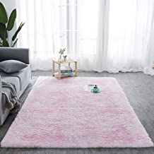 Modern Style Soft Furry Rugs Multi-Colored Tie-Dye Pads Fluffy Bedroom Carpet Non-Slip Indoor Plush Decorative Carpets, Su...