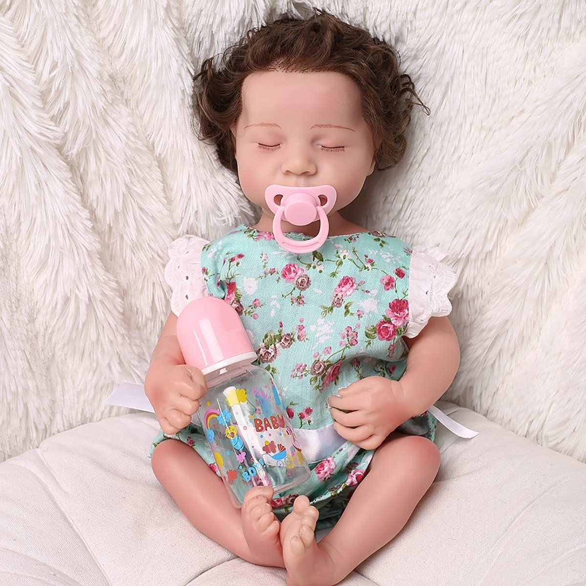 HFSKJWI Lifelike Sleep Rebirth Tucson Mall Baby Max 48% OFF Bab Soft Silicone Doll Vinyl