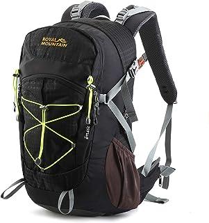 30L Mochilas de Montaña Ligera con Cubierta Impermeable Mochila Senderismo Viajes Trekking Macutos de Acampada Marcha al Aire Libre