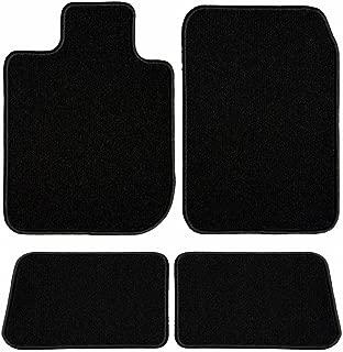 GG Bailey D3973A-S1A-BLK Two Row Set Custom Fit Floor Mats for Select Volvo 240 Models - Nylon Fiber (Black)