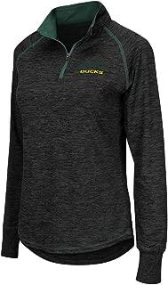 Colosseum Oregon Ducks Women's NCAA Bikram 1/4 Zip Long Sleeve Top Shirt