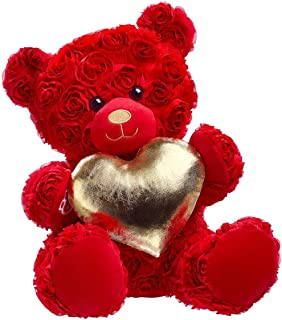 Build A Bear Workshop Red Roses Bear with Gold Heart Gift Set