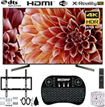 Sony XBR65X900F 65-Inch 4K Ultra HD Smart LED TV (2018) + Wireless Keyboard + Wall Mount Bundle