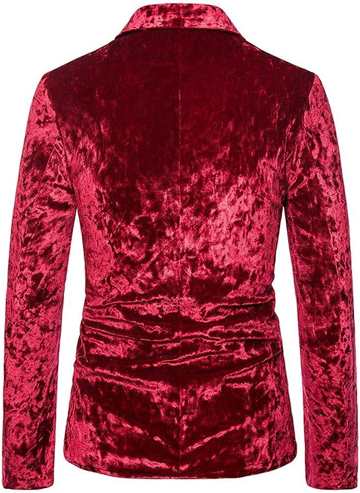 BEIXUNDIANZI Mens Fashion Vertical Stripes Suit Jacket Button Party Wedding Banquet Prom Coats Spring and Autumn New Mens Business Blazer Corduroy Jacquard Suit Jackets