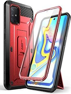 SUPCASE Outdoor Hülle für Samsung Galaxy A51 (6.5') 5G Bumper Case 360 Grad Handyhülle Robust Schutzhülle Cover [Unicorn Beetle Pro] mit Integriertem Displayschutz, Gürtelclip und Ständer (Rot)
