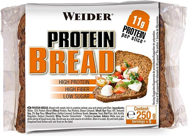 Pane proteico - 5 pezzi [250 gr] weider protein bread WJW.208100