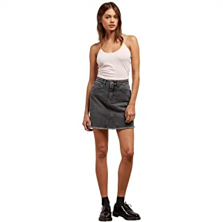 Women's Stoned High Rise Raw Hem Mini Skirt