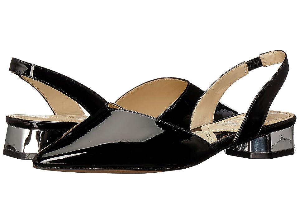 Adrienne Vittadini Franny (Black Patent Leather) Women