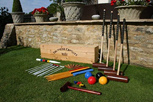 de moda Garden Games Townsend Croquet Set (4 player in wooden box) box) box)  almacén al por mayor