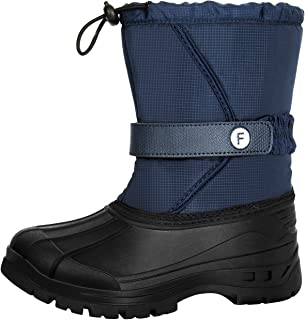 Blue,1.5 M US Little Kid Boys Snow Boots Outdoor Warm Winter Boot for Cold Weather Waterproof
