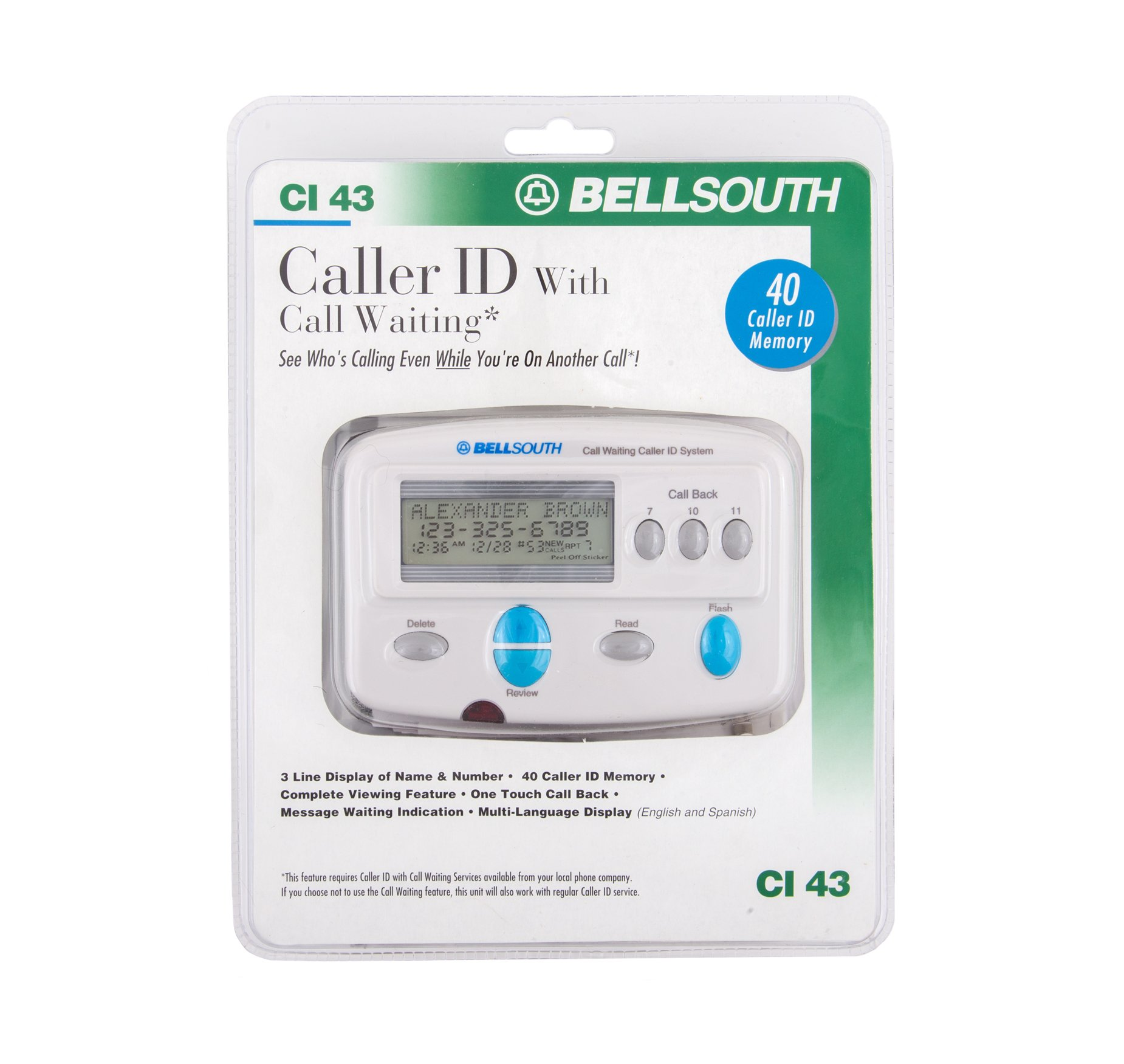 Bellsouth Caller Waiting CI 43