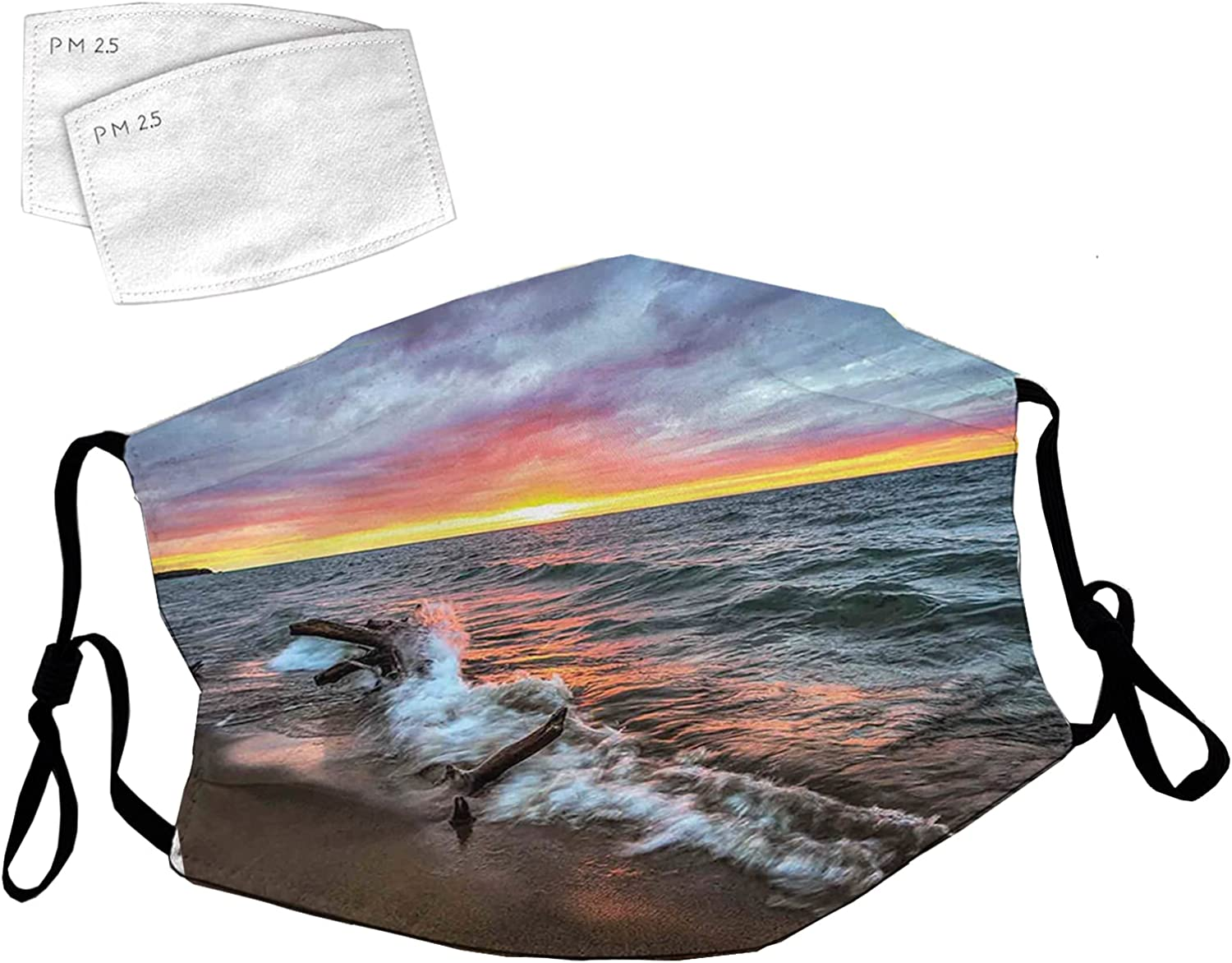 Reusable Face Mask with Adjustable Fort Worth Mall 55% OFF Ear Sh The Driftwood on Loops