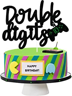 10th Double Digits Birthday Cake Topper - Video Game Boy's 10th Birthday Cake Supplies - Gaming Level Up Tenth Birthday Party Decoration