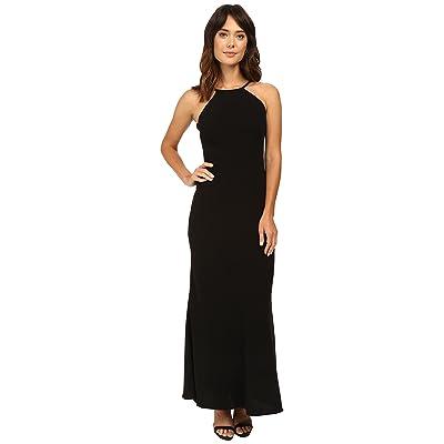 Calvin Klein Halter Neck Back Less Gown CD6B1850 (Black) Women