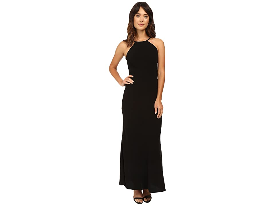 Calvin Klein Halter Neck Back Less Gown CD6B1850 (Black) Women