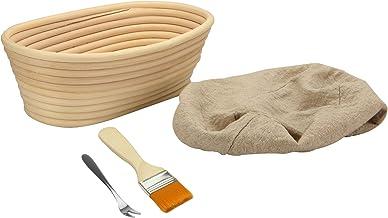 Bread Proofing Basket Banneton   Brotform Baking Dough Bowl Basket   Rattan Dough Rising Sourdough Set   FREE Brush, Liner...