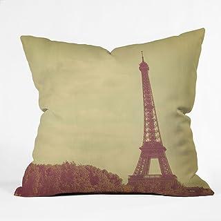 Deny Designs Happee Monkee Eiffel Tower Throw Pillow, 16 x 16