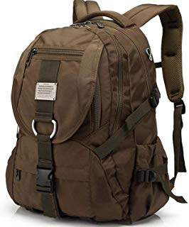 Travel Laptop Backpack, Extra Large College School Backpack for Men/Women with Headphones Hole, Water-Resistant Durable Outdoor Travel Computer Daypack Backpack Fit 17 Inch Laptops Notebook (Brown)