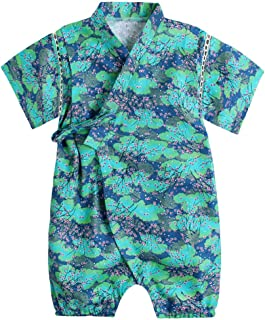 Baby Japanese Kimono Robe Cotton Infant Comfy Loose Pajamas