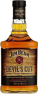 """Jim Beam Devil""""s Cut Kentucky Straight Bourbon Whiskey, robuster Geschmack mit intensiven Eichen- und Vanillenoten, 45% Vol, 1 x 0,7l"""