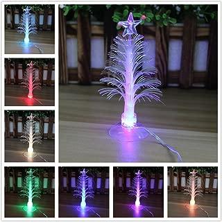 Elloapic Colorful Fiber Optic Christmas Tree with Multi-Color LED Flash Light USB Powered Christmas Santa Xmas Decoration 5