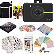 Polaroid Snap Instant Digital Camera (Black) Protective Bundle with 20 Sheets Zink Paper