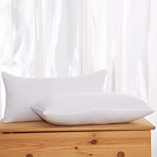 Acanva Decorative Rectangle Throw Pillow Inserts Hypoallergenic Form Stuffer Cushion Sham Filler, 16x26, White, 2 Piece