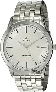 Titan Analogue Men's Watch (Silver Dial Silver Colored Strap)