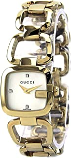 Gucci Women's Mother of Pearl Dial Stainless Steel Gold Band Watch - YA125513