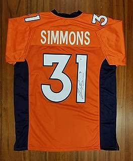 Justin Simmons Autographed Jersey - Beckett - Beckett Authentication - Autographed NFL Jerseys