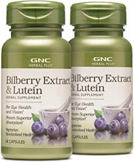 GNC Herbal Plus Bilberry Extract & Lutein - Twin Pack