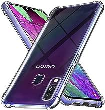 Ferilinso Cover per Samsung Galaxy A40 Cover, [Rinforzare la Versione con Quattro Angoli] [Protezione per la Fotocamera] Custodia Protettiva in Silicone Morbido Antiurto in Gomma TPU (Trasparente)